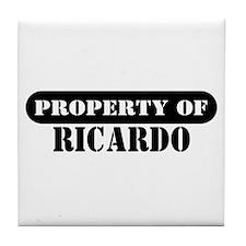 Property of Ricardo Tile Coaster