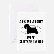 Ask Me About My Sealyham Terrier Greeting Card