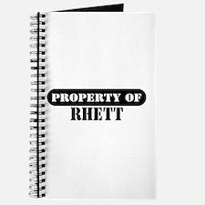 Property of Rhett Journal