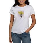 Coreopsis Flower /Sad dog Women's T-Shi