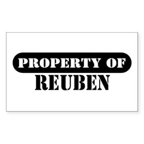 Property of Reuben Rectangle Sticker