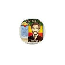 Haile Selassie I Mini Button