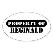 Property of Reginald Oval Decal