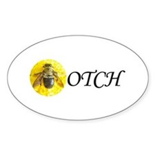 Bee OTCH Oval Decal