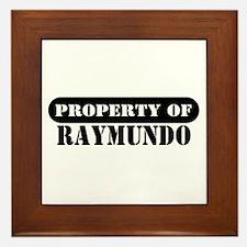 Property of Raymundo Framed Tile
