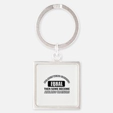 Cool Athletic Trainers designs Square Keychain