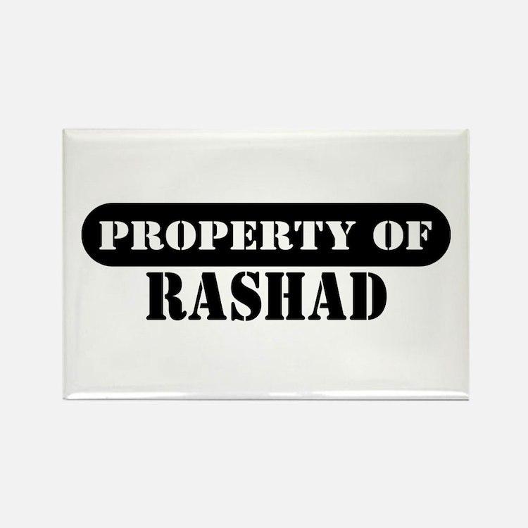 Property of Rashad Rectangle Magnet