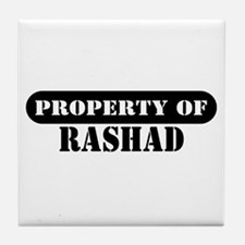 Property of Rashad Tile Coaster