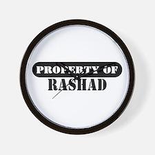 Property of Rashad Wall Clock