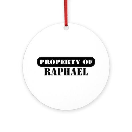 Property of Raphael Ornament (Round)