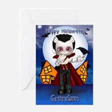 Grandson Fun Vampire Hallowen Greeting Card