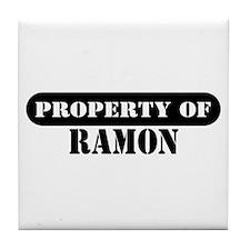 Property of Ramon Tile Coaster