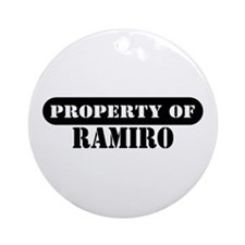 Property of Ramiro Ornament (Round)