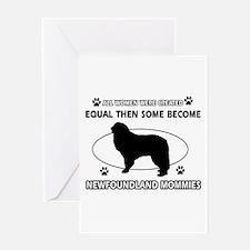 newfoundland mommy designs Greeting Card