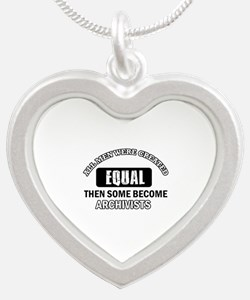 Cool Archivists designs Silver Heart Necklace