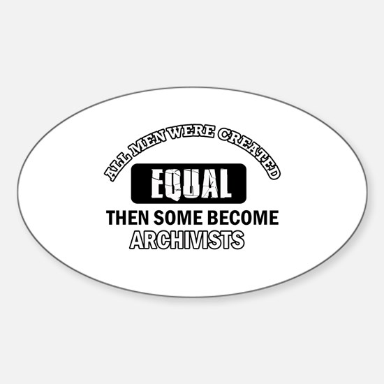 Cool Archivists designs Sticker (Oval)