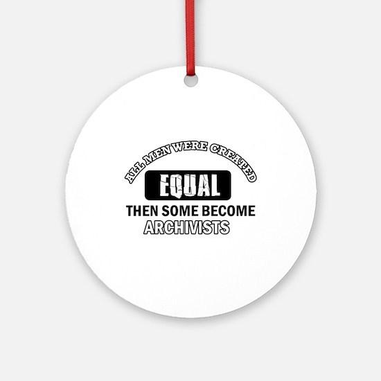 Cool Archivists designs Ornament (Round)