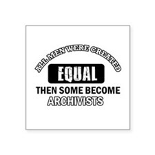 """Cool Archivists designs Square Sticker 3"""" x 3"""""""