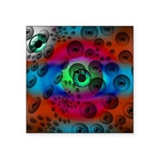 """Scary Surrealistic Eyeballs Square Sticker 3"""" x 3"""""""