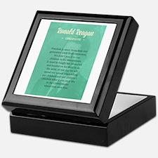 President Ronald Reagan Quote Keepsake Box