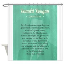 President Ronald Reagan Quote Shower Curtain