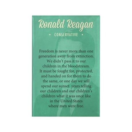 President Ronald Reagan Quote Magnets