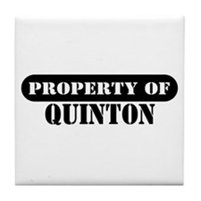Property of Quinton Tile Coaster