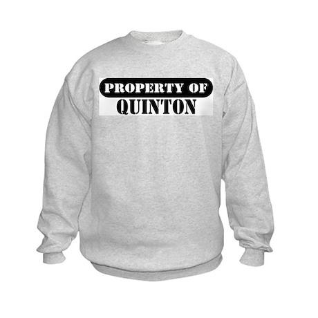 Property of Quinton Kids Sweatshirt