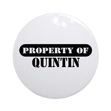Property of Quintin Ornament (Round)
