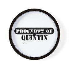 Property of Quintin Wall Clock