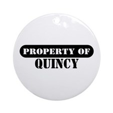 Property of Quincy Ornament (Round)