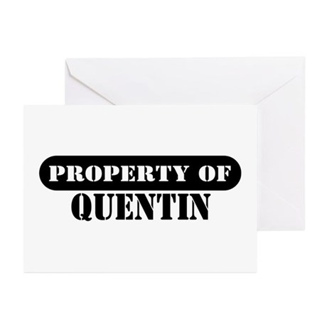 Property of Quentin Greeting Cards (Pk of 10)