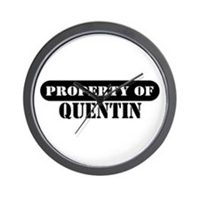 Property of Quentin Wall Clock