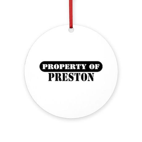 Property of Preston Ornament (Round)