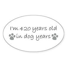 60 dog years 2-2.JPG Decal