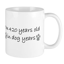 60 dog years 2-2.JPG Coffee Mugs