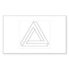 """""""Impossible Triangle"""" Rectangle Decal"""