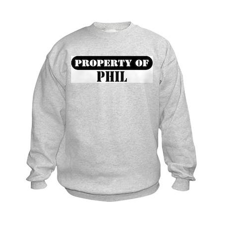 Property of Phil Kids Sweatshirt