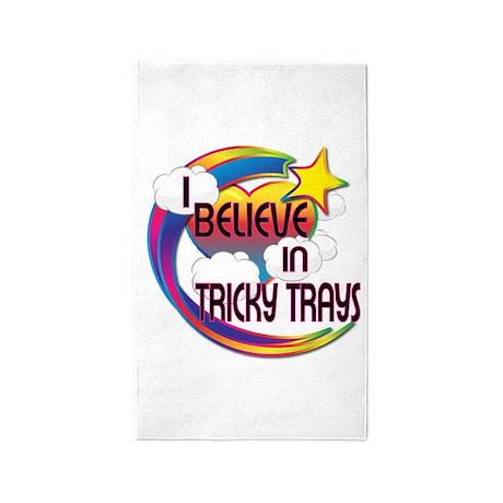 I Believe In Tricky Trays Cute Believer Design 3'x
