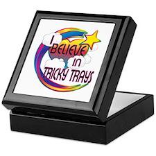 I Believe In Tricky Trays Cute Believer Design Kee