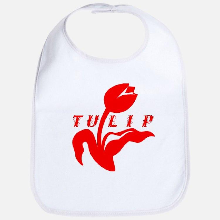 Red Tulip Bib