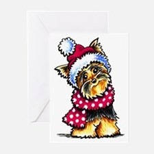 Yorkie Scarf Greeting Cards (Pk of 20)