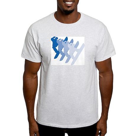 Boarder silhouettes Ash Grey T-Shirt