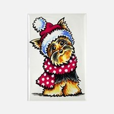 Yorkie Scarf Magnets
