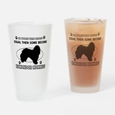 KOMONDOR mommy designs Drinking Glass