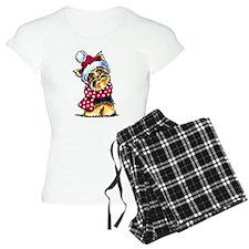 Yorkie Scarf Pajamas
