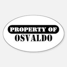 Property of Osvaldo Oval Decal