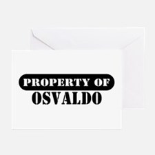 Property of Osvaldo Greeting Cards (Pk of 10)
