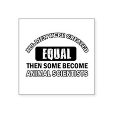 "Cool Animal Scientists designs Square Sticker 3"" x"