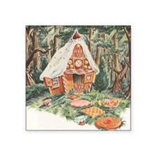 "Vintage Hansel and Gretel Square Sticker 3"" x 3"""